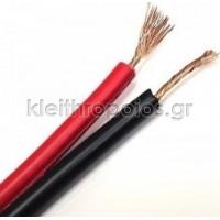 Καλώδιο ηχείων κόκκινο-μαύρο 2 Χ 0.75mm / 100m