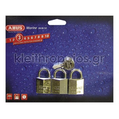 Λουκέτο όμοιου κλειδιού Abus 84IB Triples Λουκέτα όμοιου κλειδιού - Στρατιωτικά πακέτα