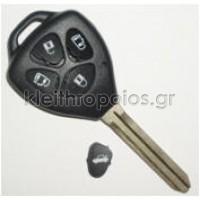 Κουβούκλιο Toyota με λάμα TOY47 με 4 κουμπιά (νέο) Toyota