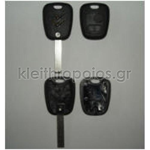 Κουβούκλιο Citroen σκαλιστό 2 κουμπιά για C2 και C3 Citroen