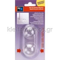 Στόπ θύρας πλαστικό - διάφανο - διπλή συσκευασία Εξοπλισμός σπιτιού - μικροαντικείμενα