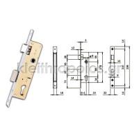 Κλειδαριά χωνευτή ISEO κυλίνδρου για σιδερένιες και αλουμινίου Κλειδαριές ξύλινης εισόδου