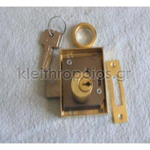 Κλειδαριά κουτιαστή επίπλων με κλειδί ασφαλείας Κλειδαριές επίπλων - ντουλαπιών