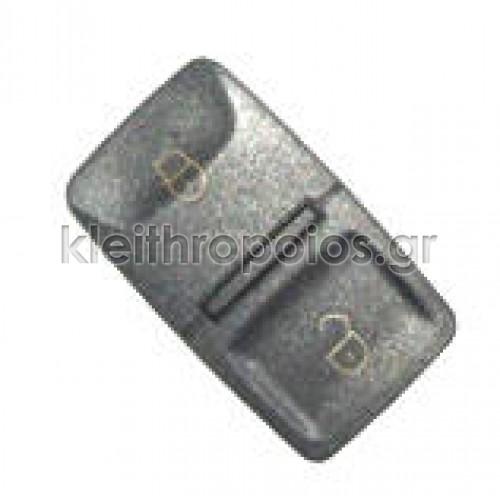Ζελατίνα ανταλλακτικό για κουμπιά τετράγωνη Group Vag 2 κουμπιά Audi - Skoda - VW - Seat (group)