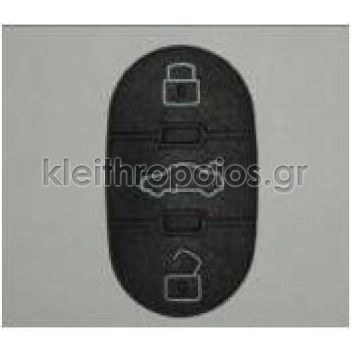 Ζελατίνα ανταλλακτικό για κουμπιά οβάλ Group Vag 3 κουμπιά Audi - Skoda - VW - Seat (group)