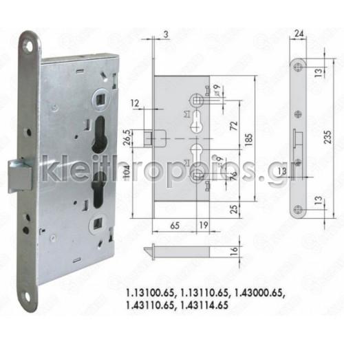 Κλειδαριά CISA πανικού 43110 Κλειδαριές για πυράντοχες πόρτες