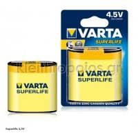 Μπαταρία Αλκαλική Varta 4.5V longlife Μπαταρίες